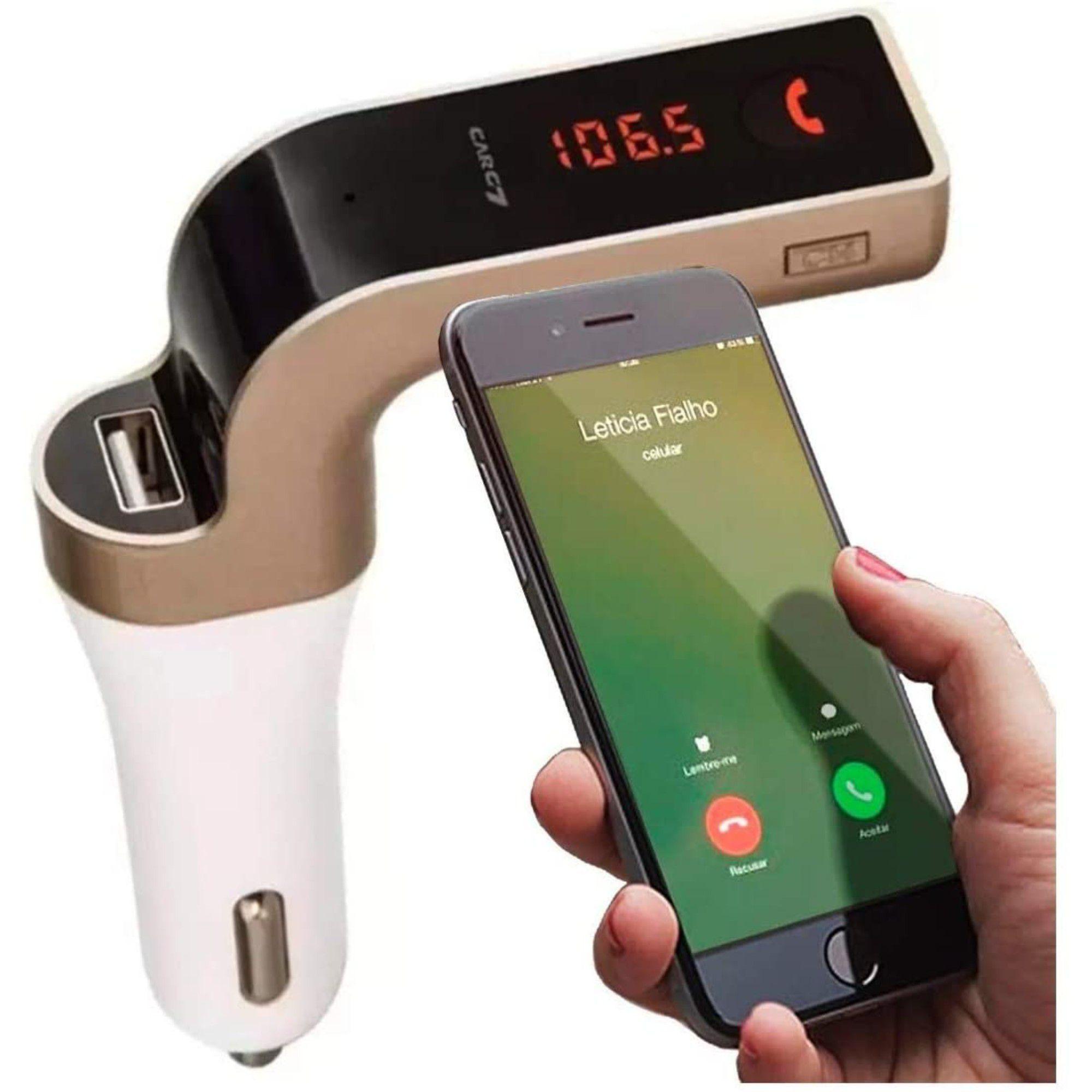 Transmissor Veicular C/ Bluetooth FM MP3 USB e Pendrive