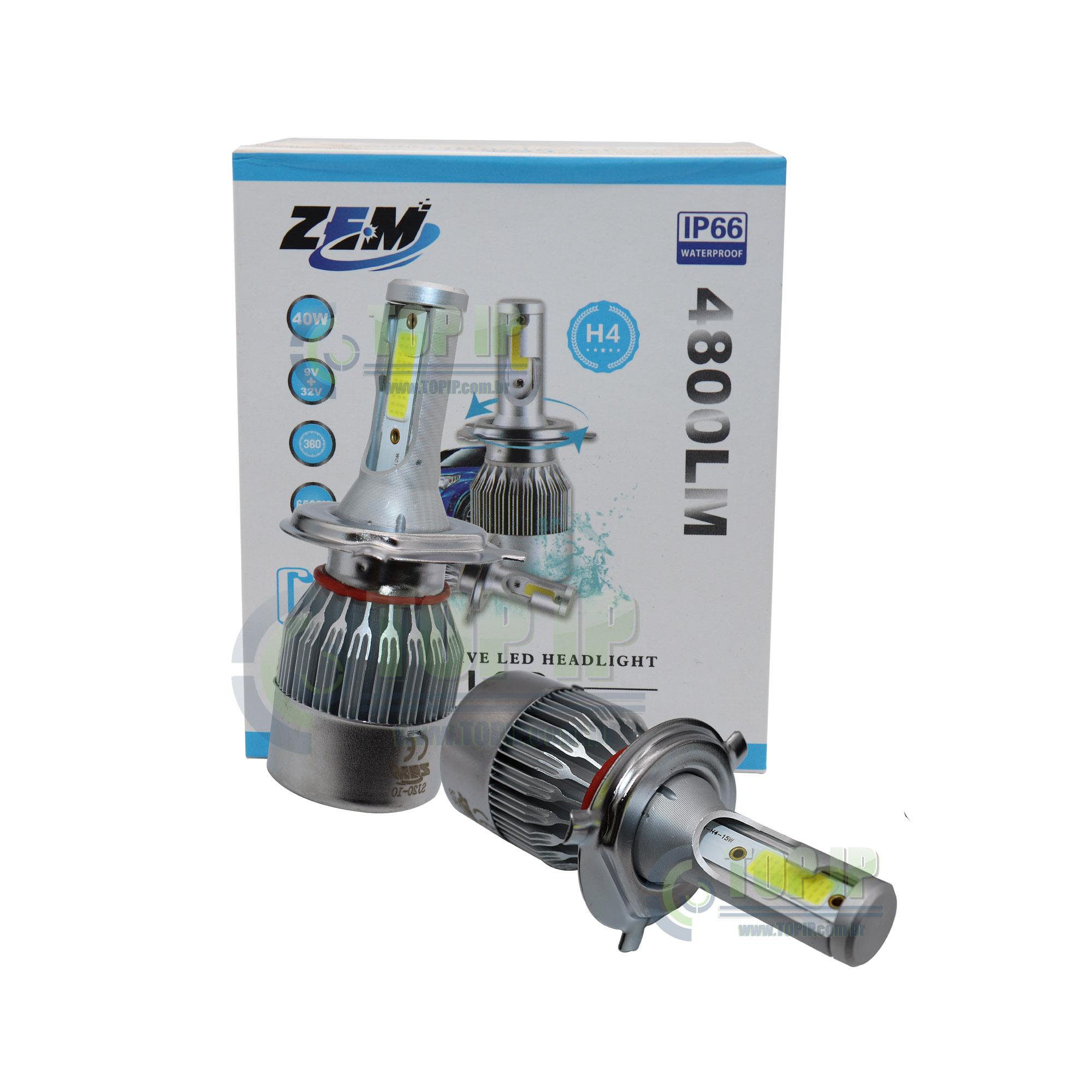 Ultra Led H4 4.800 Lumens 40w 9-32v com Chip CSP