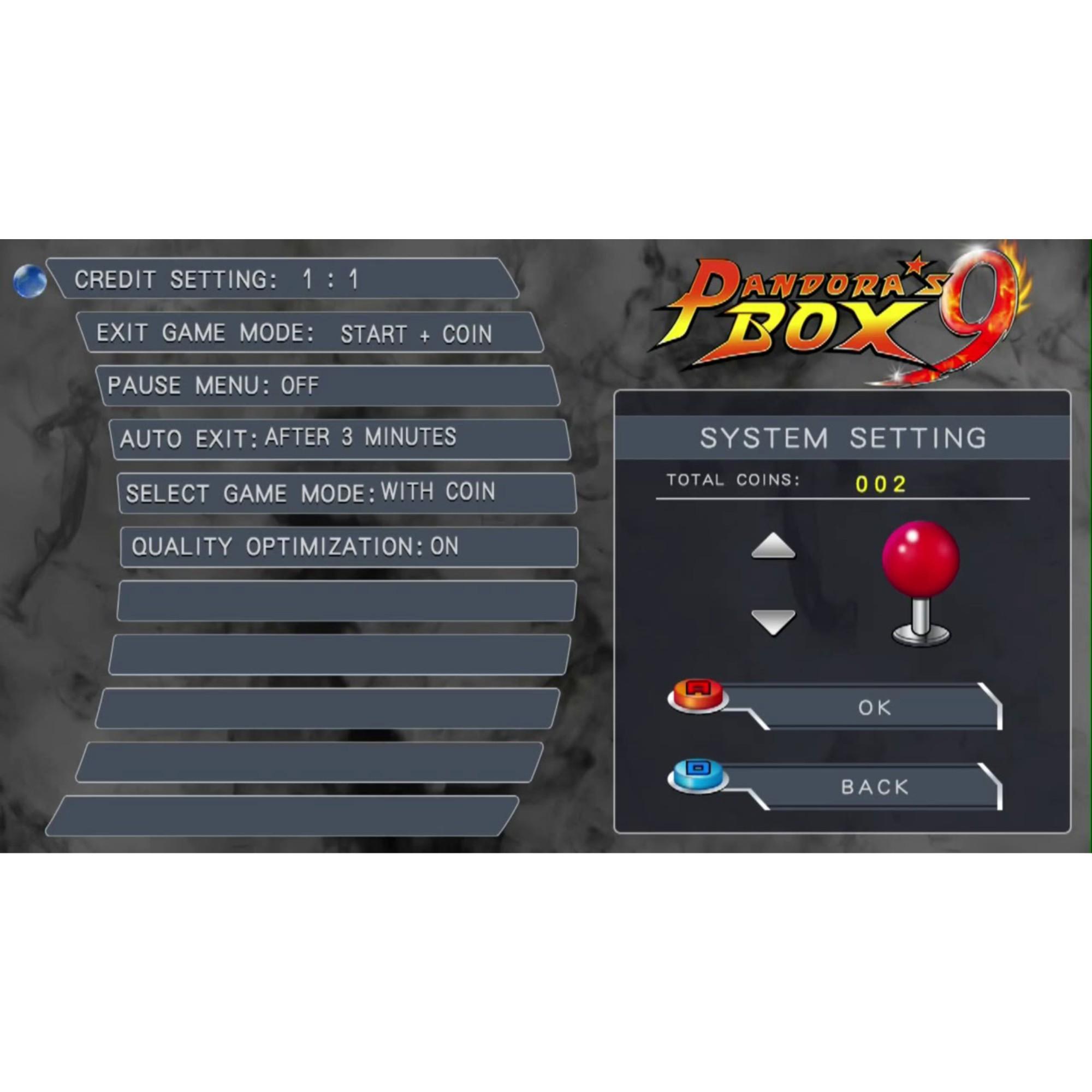 Vídeo Game Pandora 9D C/ 2 Controles e Jogos