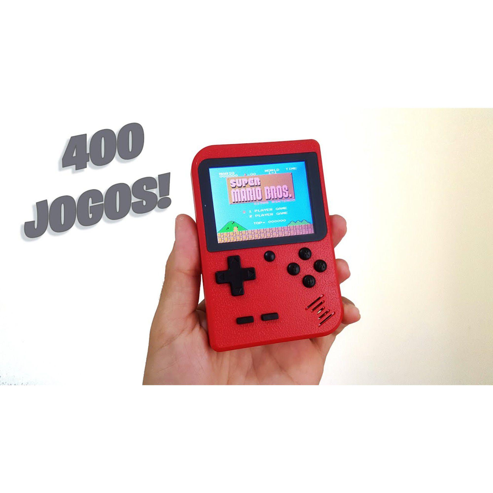 Vídeo Game Portátil Retro 400 Jogos Em 1 C/ Controle Extra Mini Game