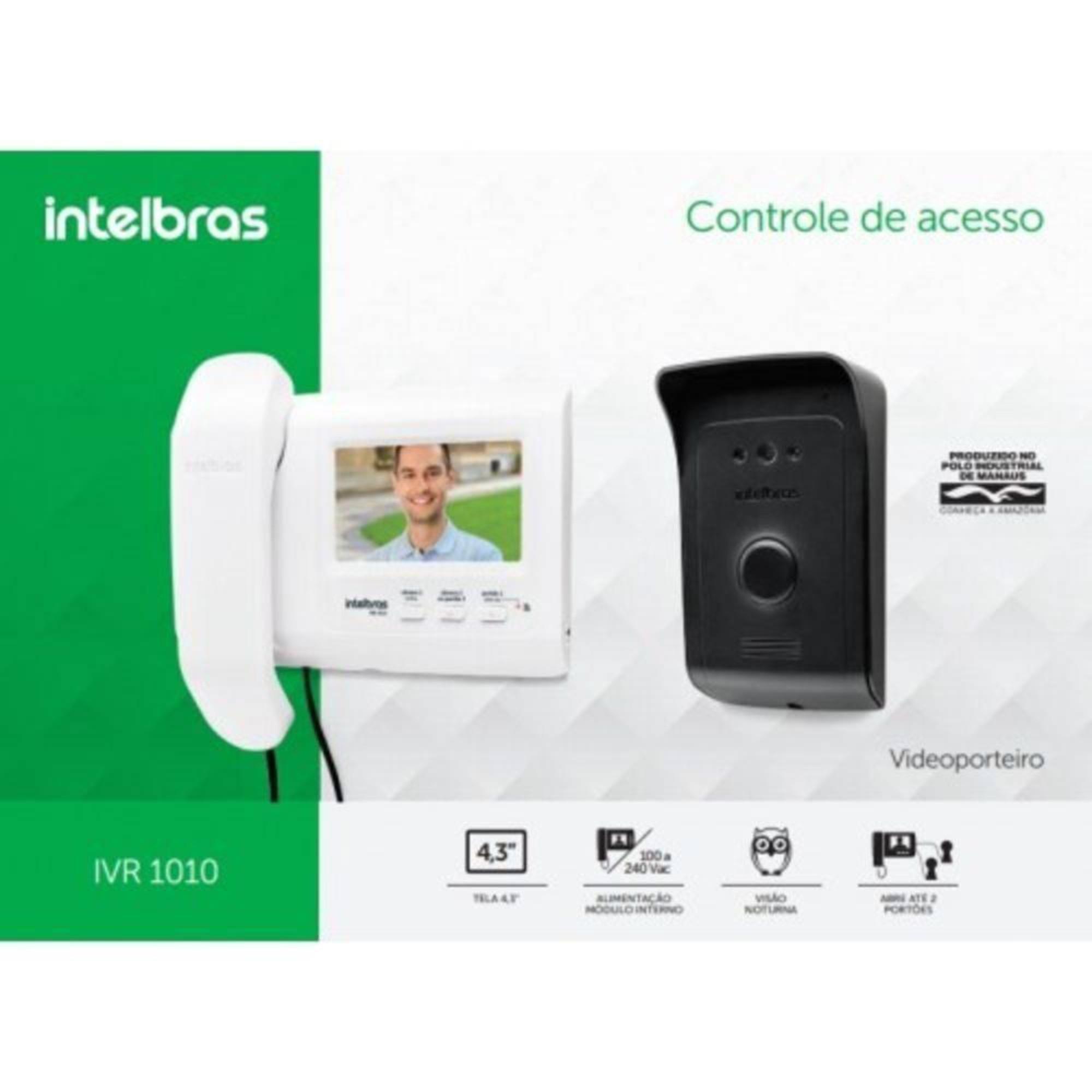 Vídeo Porteiro Intelbras IVR 1010 C/ LCD 4,3 Polegadas