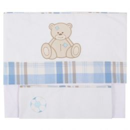 Lençol de Berço Urso - 3 pçs - Just Baby