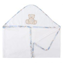 Toalha de Banho Atoalhada Urso - Just Baby