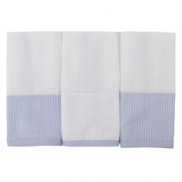 Toalha de Boca Fralda Coroa Azul - 3 pçs - Just Baby