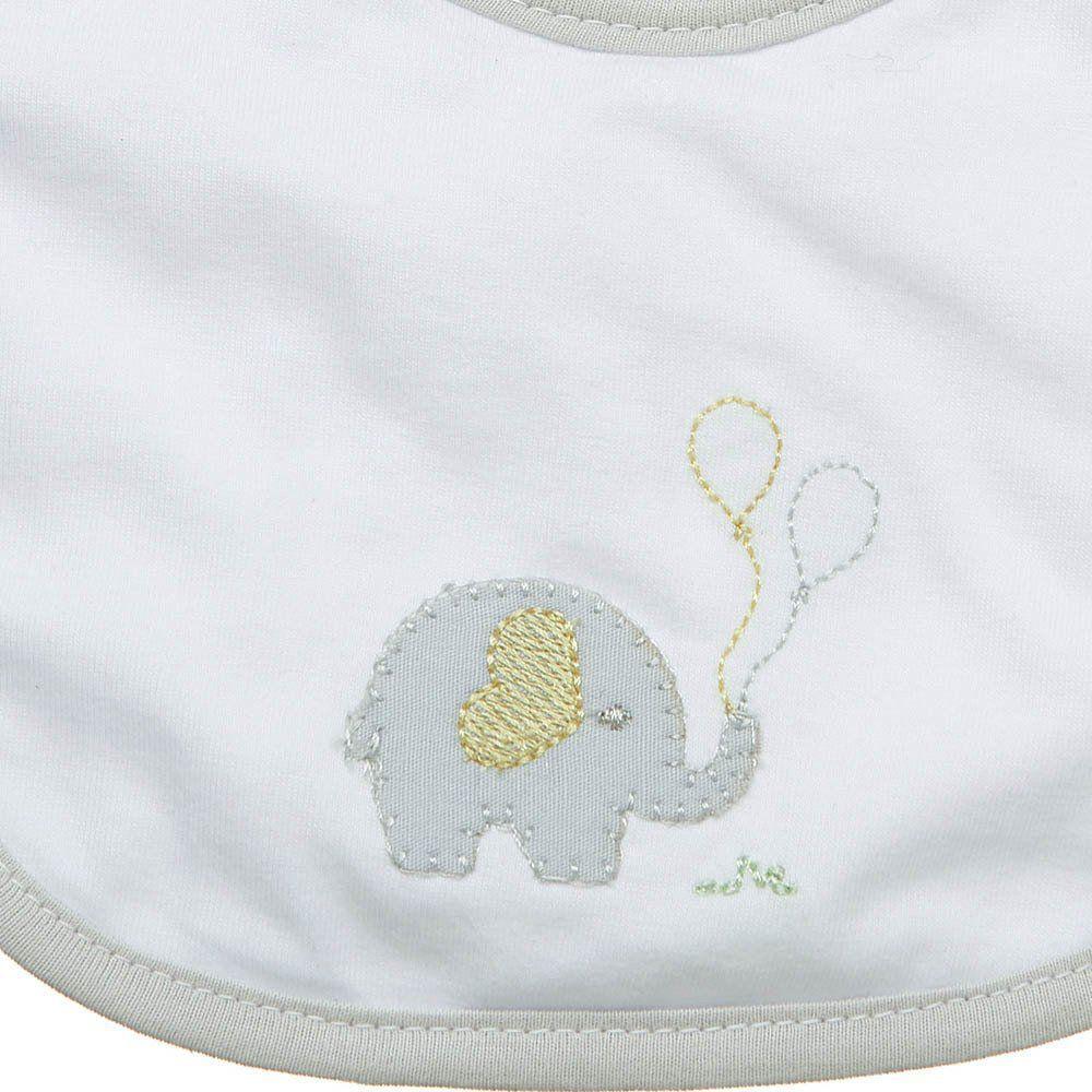 Babeiro P Malha Impermeável Elefante Just Baby