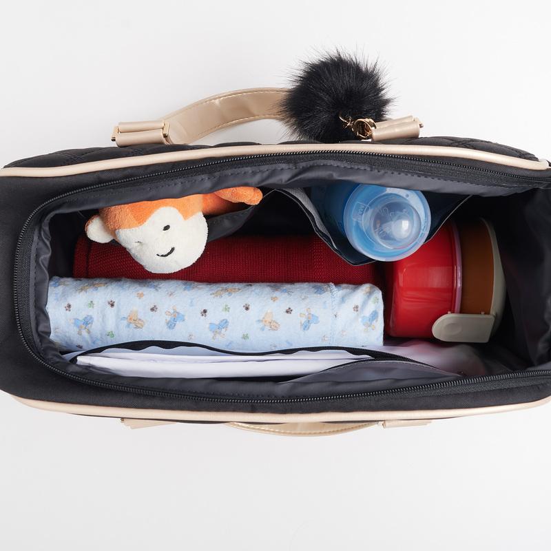 Bolsa Maternidade Bebê Oslo Preta - Just Baby