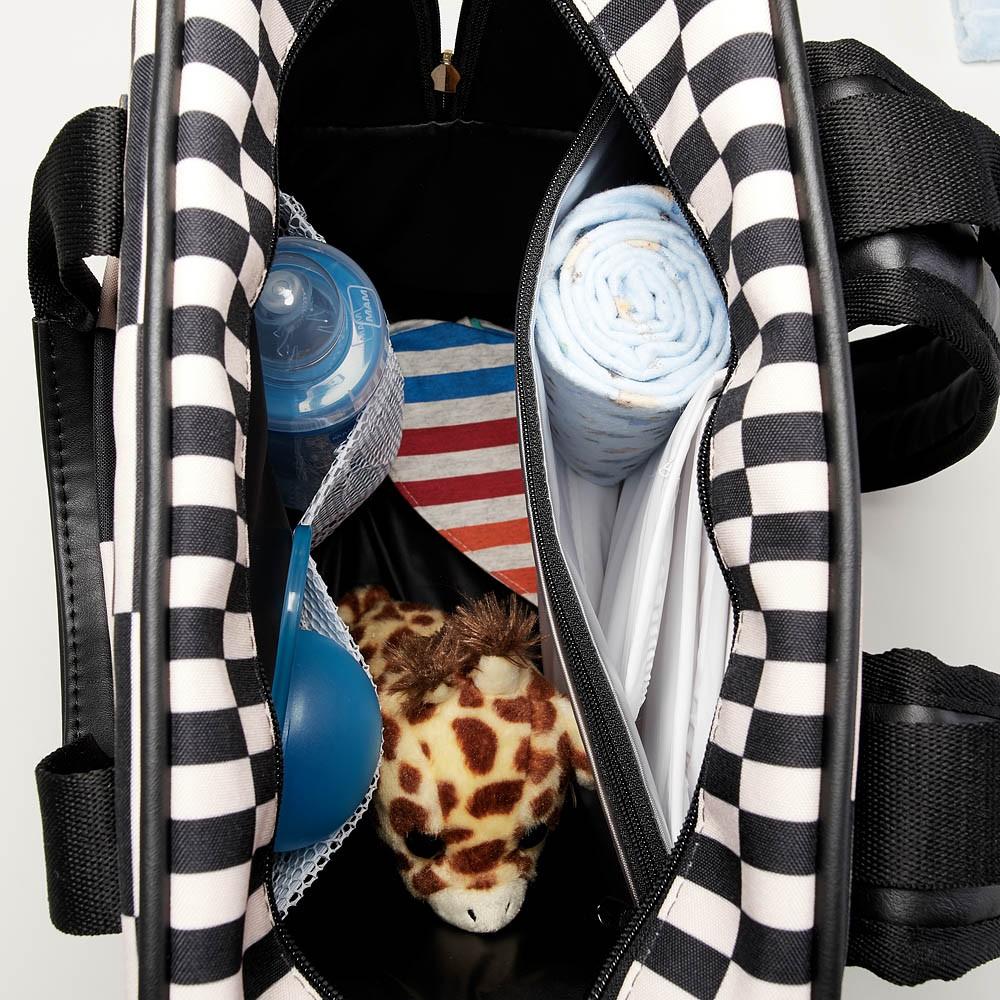 Bolsa Mochila Maternidade Vivara Preto - Just Baby