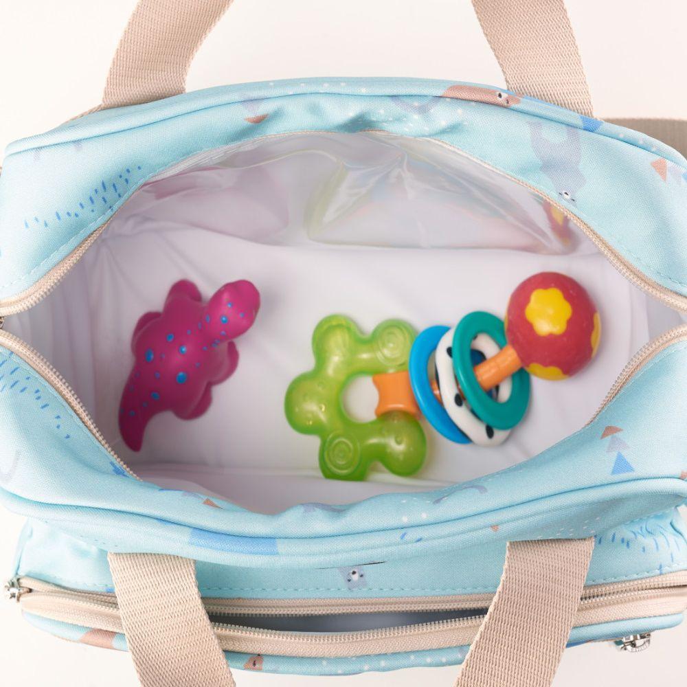 Frasqueira Térmica Bebê Fábula Urso Verde - Hey Baby