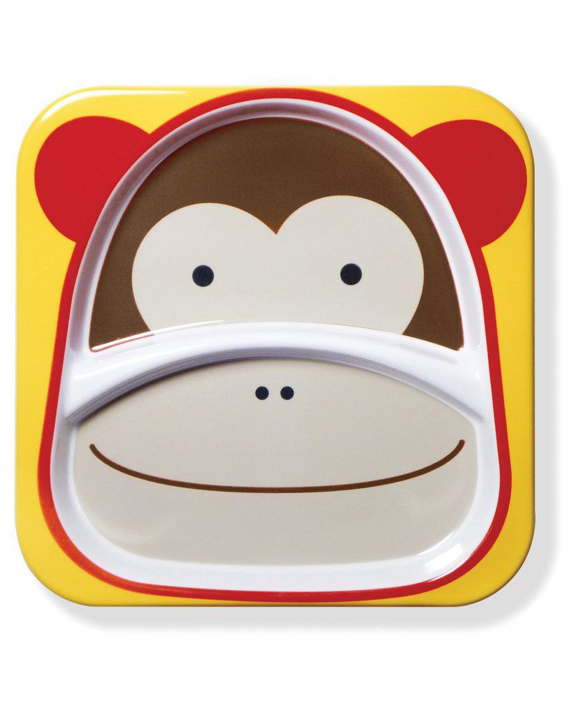 Kit de Pratos Macaco Skip Hop - Coleção Zoo
