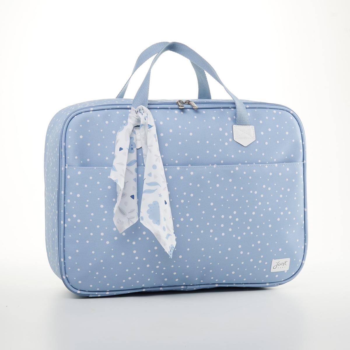 Kit Mala Maternidade + Bolsa Bebê + Frasqueira Térmica Bunny Azul - Just Baby