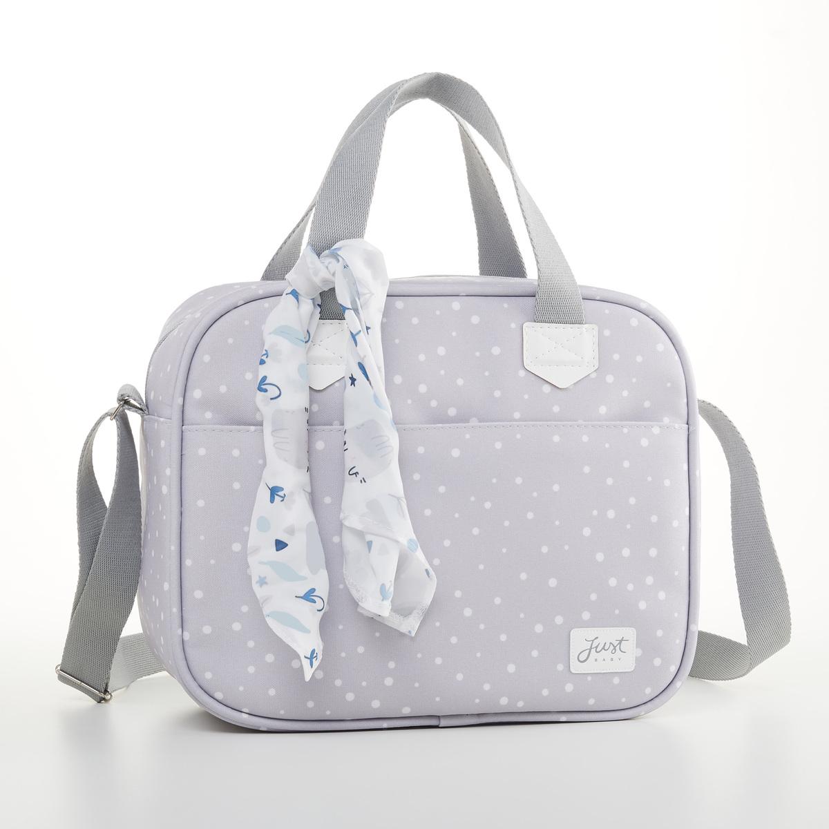 Kit Mala Maternidade + Bolsa Bebê + Frasqueira Térmica Bunny Cinza - Just Baby
