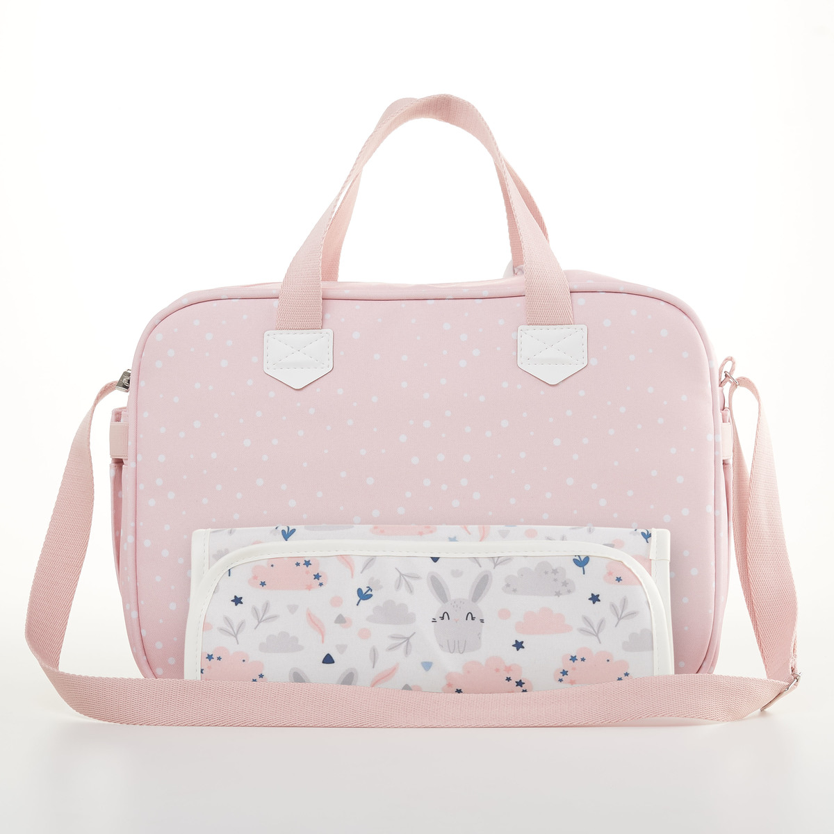 Kit Mala Maternidade + Bolsa Bebê + Frasqueira Térmica Bunny Rosa - Just Baby