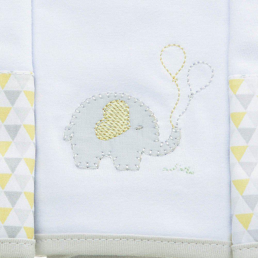Kit Paninho de Boca Malha c/3 Elefante Just Baby