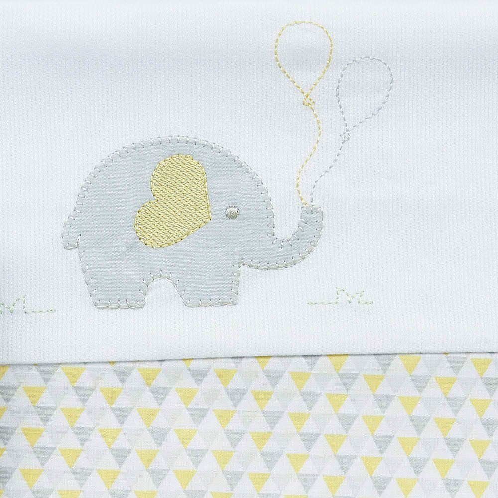 Lençol de Berço Elefante 3 pçs Just Baby