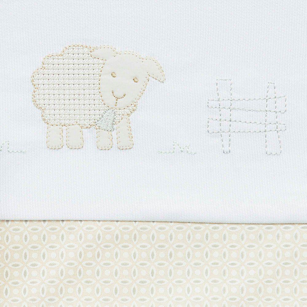 Lençol de Berço Ovelhas 3 pçs Just Baby