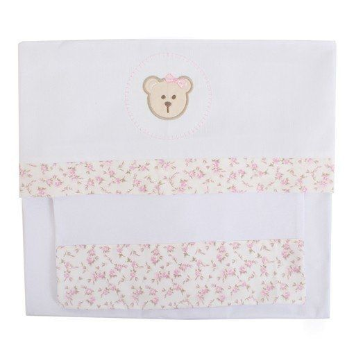 Lençol de Berço Ursa Tope - 3 pçs - Just Baby