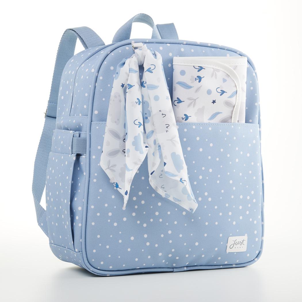 Mochila Maternidade Bebê Bunny Azul - Just Baby