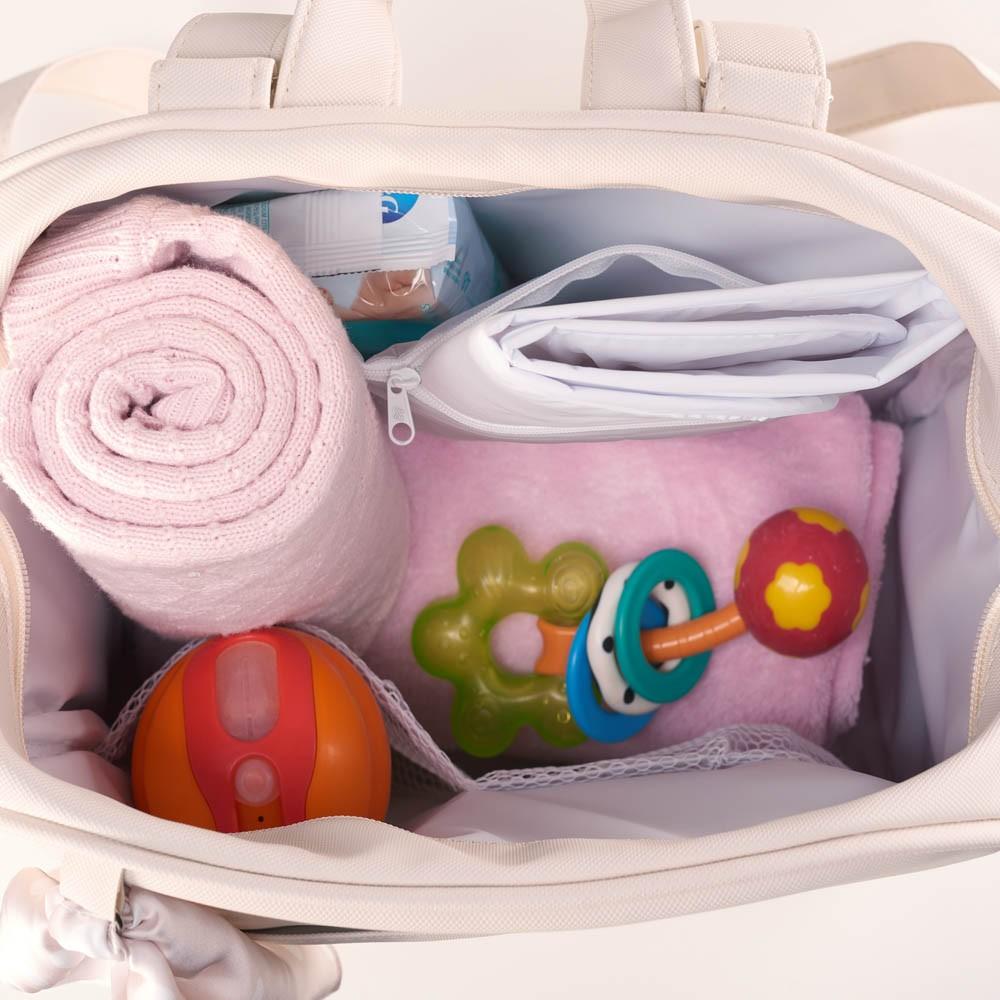 Mochila Maternidade Bebê Candy Bege - Just Baby