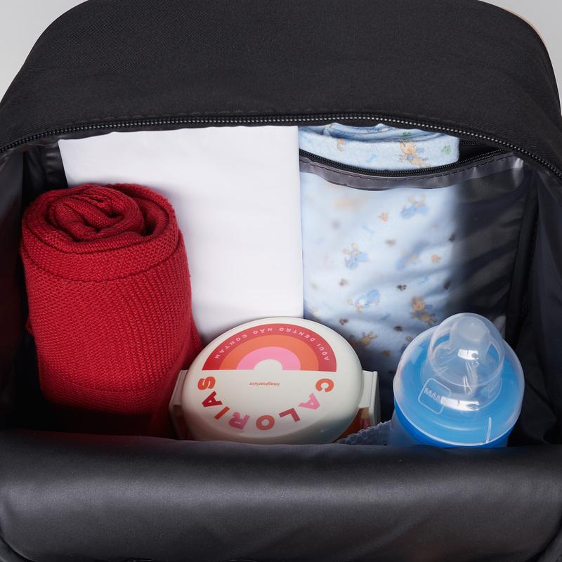 Mochila Maternidade Bebê Oslo Preta - Just Baby