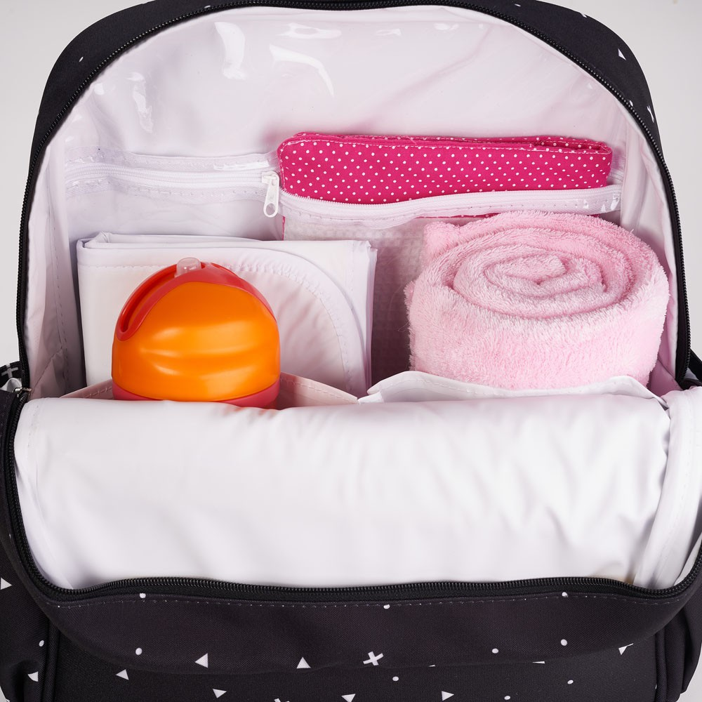 Mochila Maternidade Bebê Urban Preta - Hey Baby