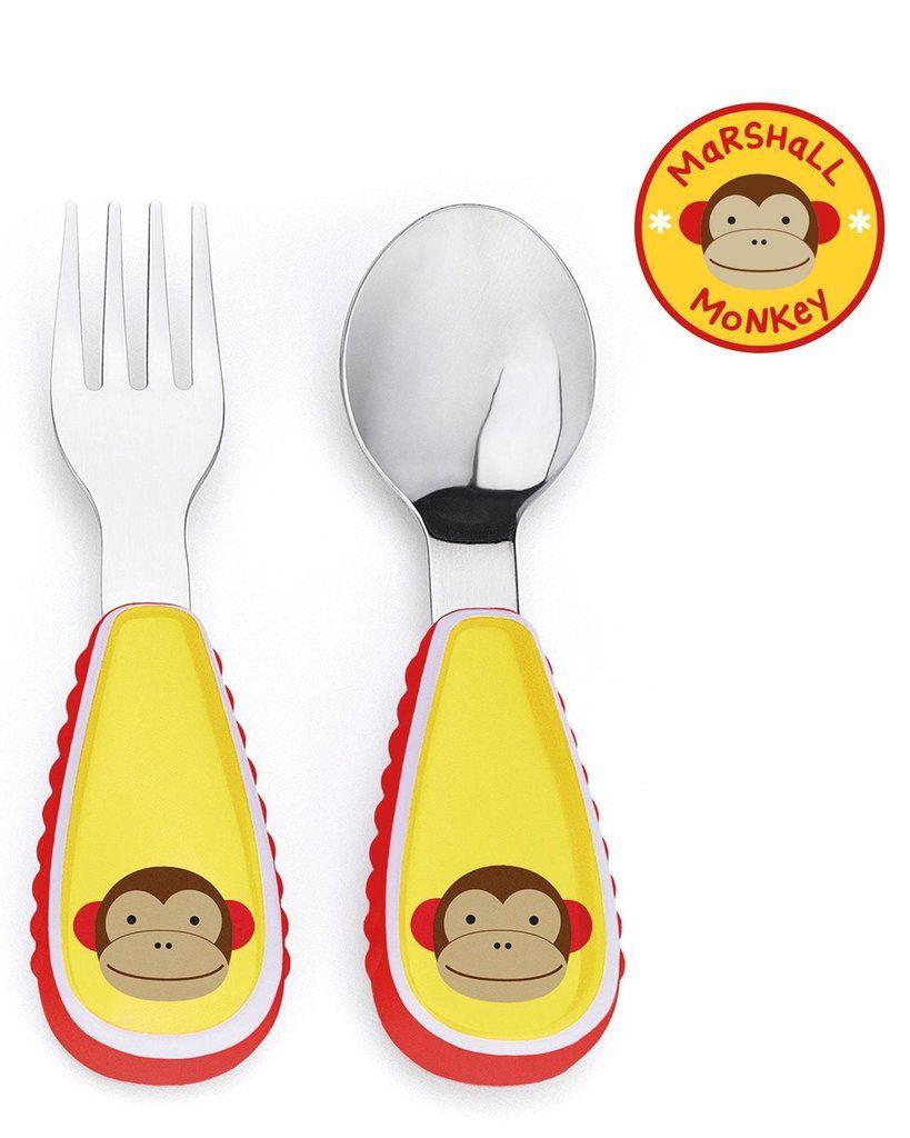 Talheres Macaco Skip Hop - Coleção Zoo