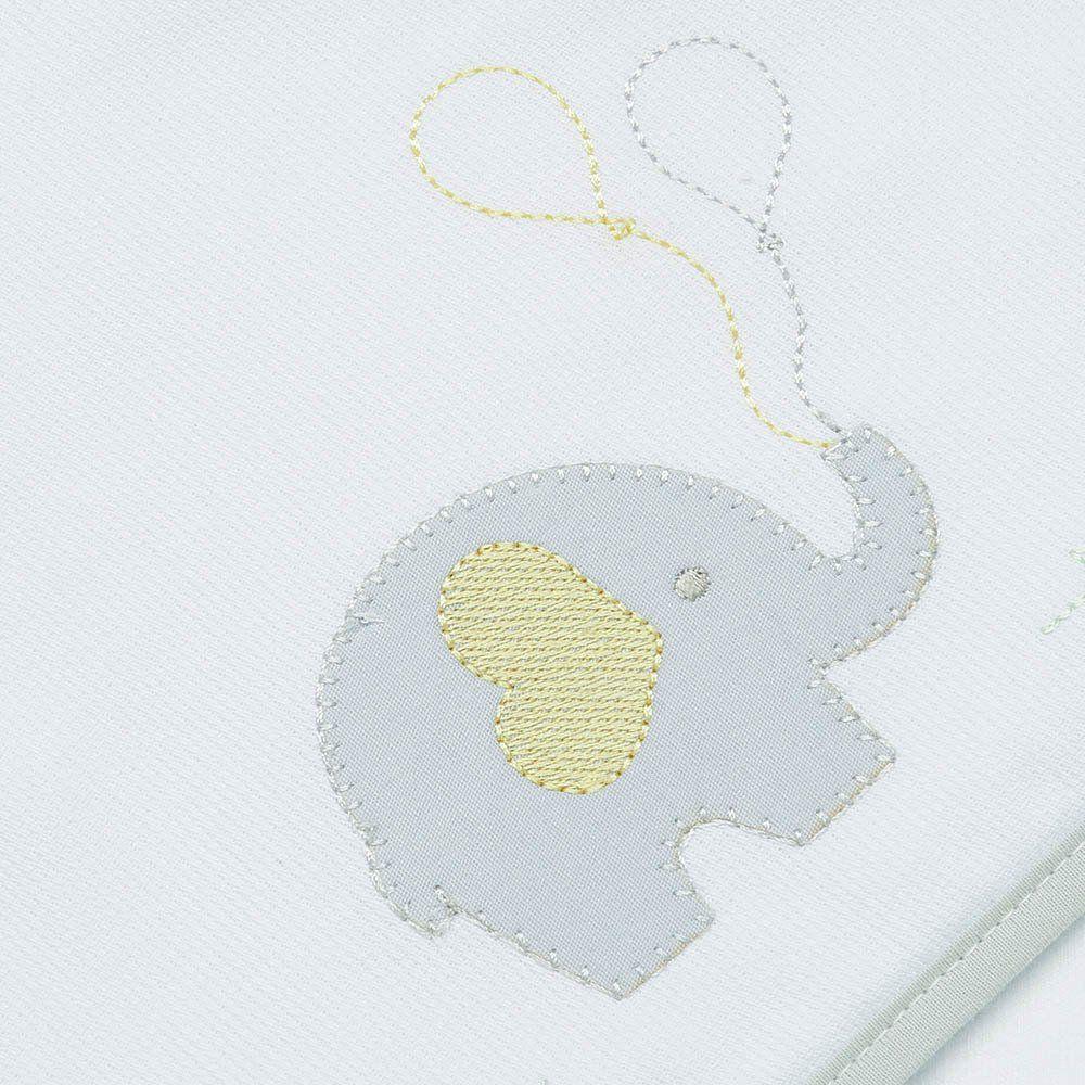 Toalha de Banho Atoalhada c/ Capuz Elefante Just Baby