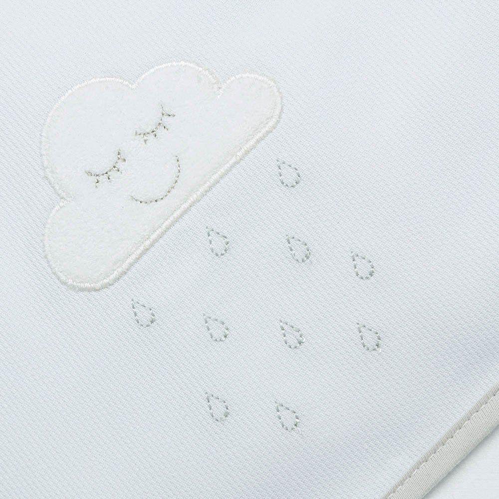 Toalha de Banho Atoalhada c/ Capuz Nuvem Just Baby