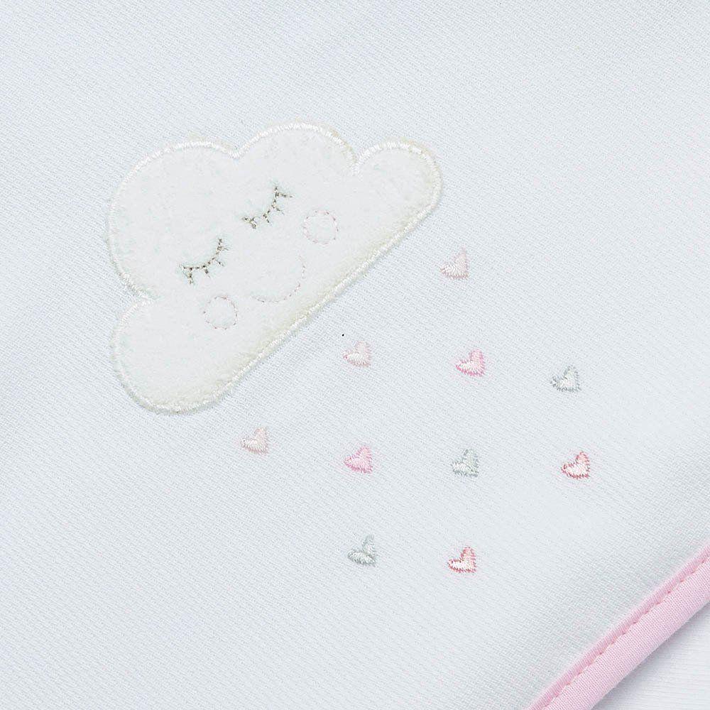 Toalha de Banho Atoalhada c/ Capuz Pingos de Amor Just Baby