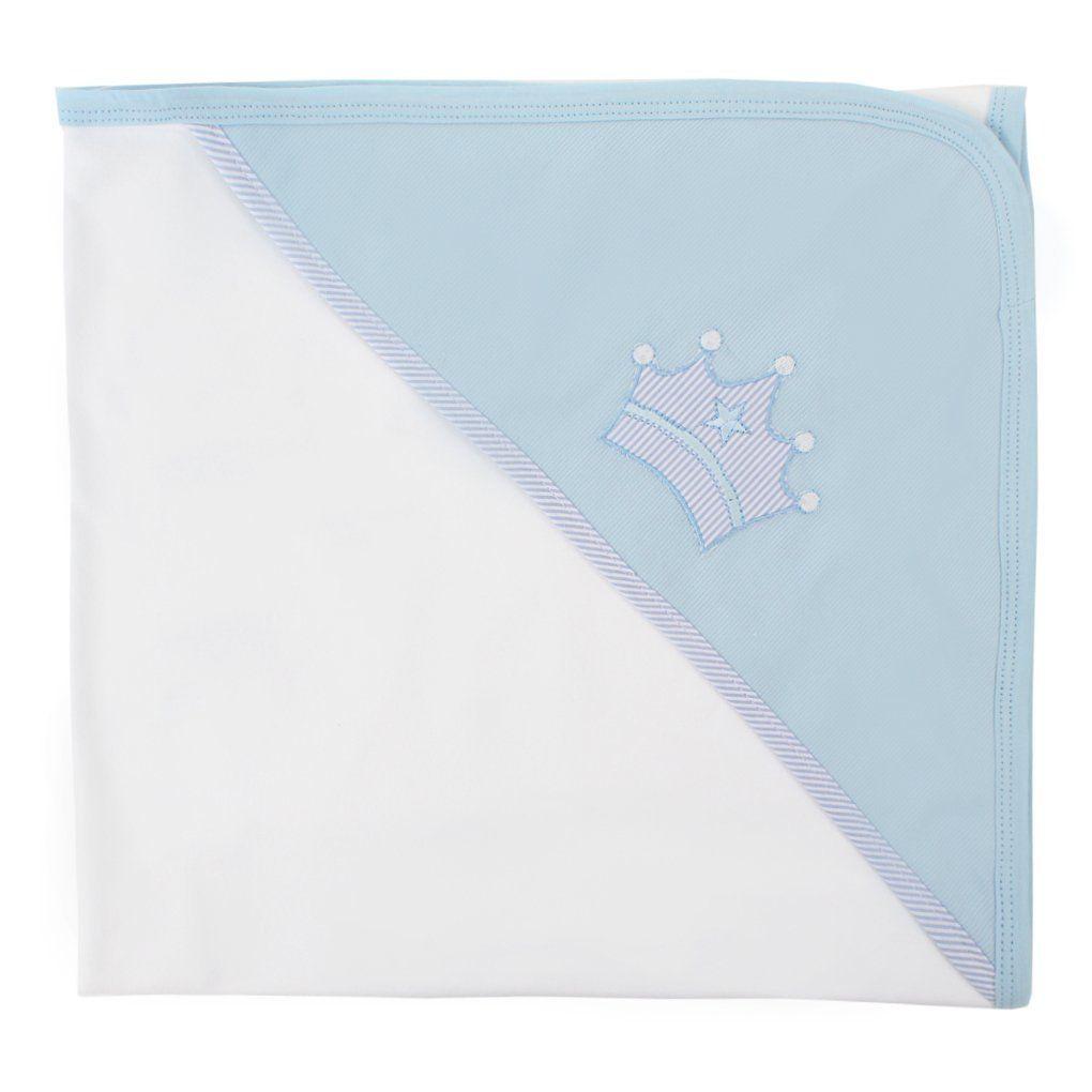 Toalha de Banho Coroa Azul - Just Baby