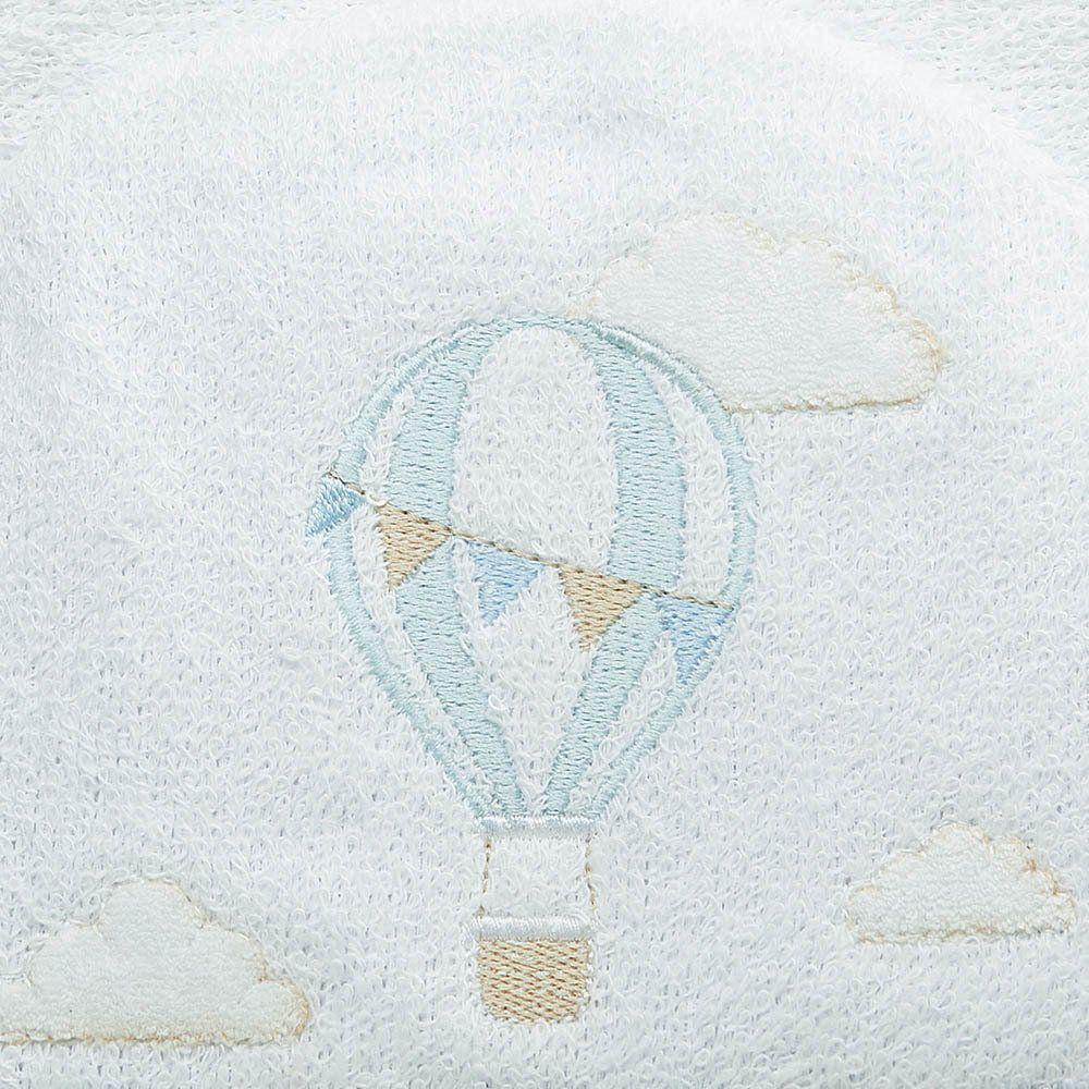 Toalha de Banho Felpuda Dupla c/ Capuz e fralda Balão Just Baby