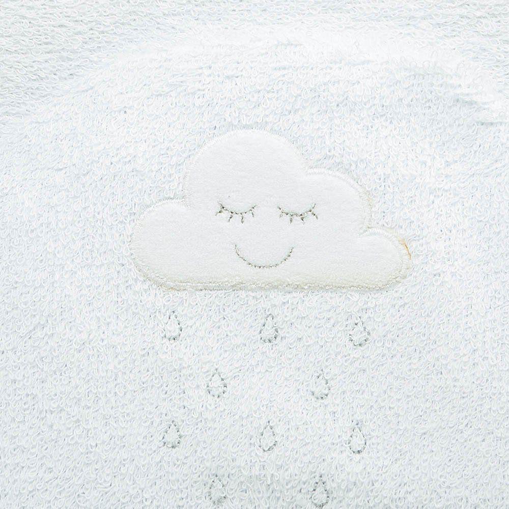 Toalha de Banho Felpuda Dupla c/ Capuz e fralda Nuvem Just Baby
