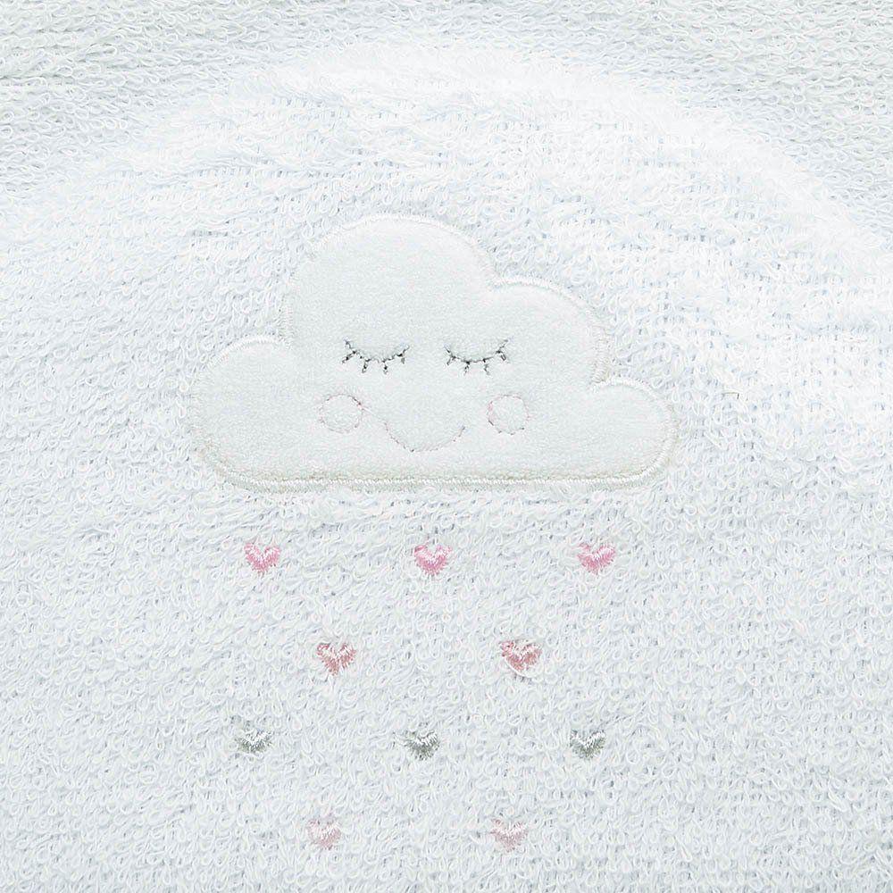 Toalha de Banho Felpuda Dupla c/ Capuz e fralda Pingos de Amor Just Baby