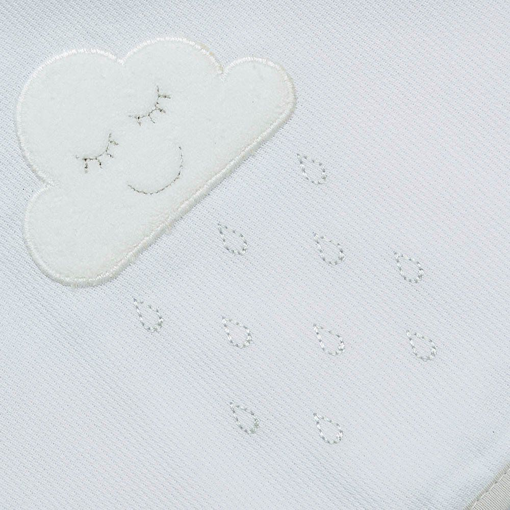 Toalha de Banho Fralda c/ Capuz Nuvem Just Baby