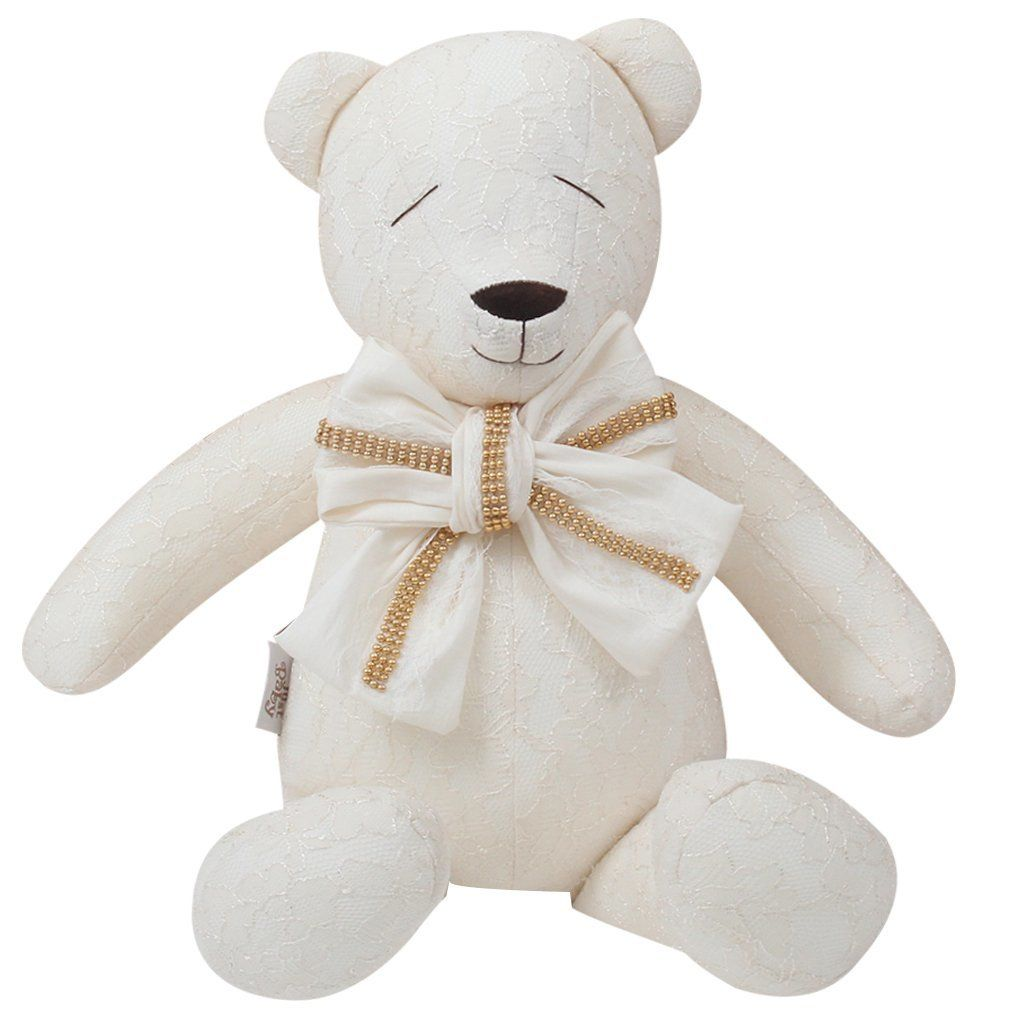 Urso Decorativo M Rendado Nude - Just Baby