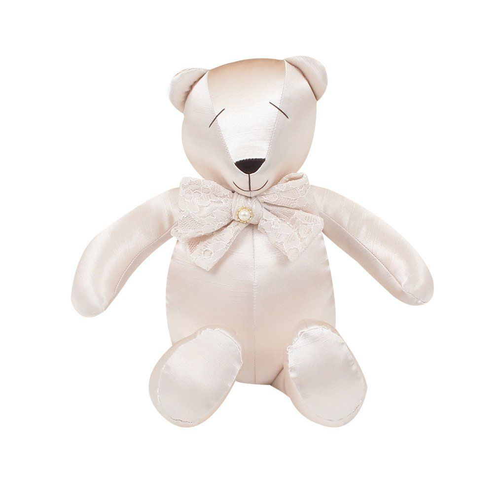 Urso Decorativo M Shantung Bege - Just Baby
