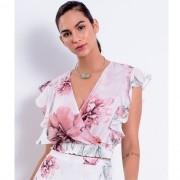 Blusa Feminina Richini Cropped Estampada 32567