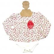 Body Infantil Menina Floral Manga Longa Kidin's 9208