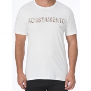 Camiseta Acostamento Casual Masculina Estampada 2092
