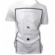 Camiseta Masculina Estampada Acostamento Manga Curta -