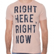 Camiseta Masculina Estampada Acostamento Rosa