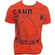 Camiseta Masculina Manga Curta Acostamento Laranja