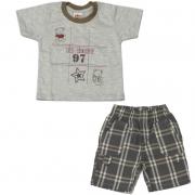 Conjunto Camiseta e Bermuda Infantil Menino Ki-Baby 454