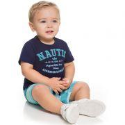 Conjunto Infantil Bebê Menino Camiseta E Bermuda BG30182*
