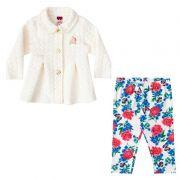 Conjunto Infantil Feminino Casaco e Legging Floral BG20085*