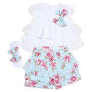 Conjunto Infantil Feminino Flowers MB10337*