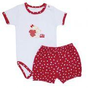 Conjunto Infantil Feminino I Love Mom Bebê Mini Baby MB04080058