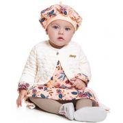 Vestido Infantil Bebê Menina com Casaco e Boina BG/G20087*