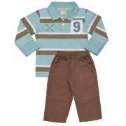 Conjunto Infantil Masculino Inverno Camisa Polo e Calça Milon ML3248*
