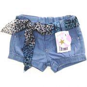Shorts Jeans Infantil Feminino Lenço Kidin?s  KD4281*