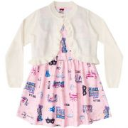 Vestido Infantil Feminino Inverno com Bolero BG/G22110